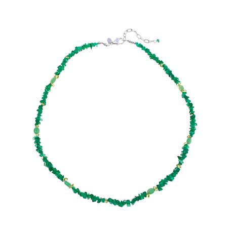 Traveler's Journey Green Onyx & Gemstone Bead Necklace