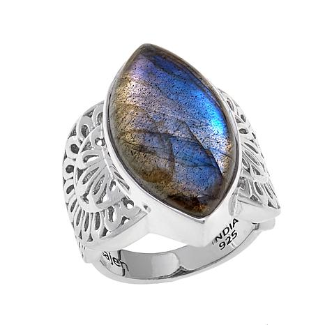 Traveler's Journey Labradorite Bold Elongated Ring