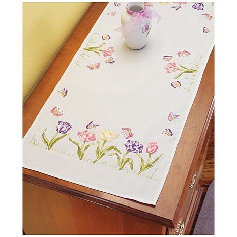 Tulip Garden Dresser Scarf