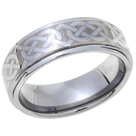 tungsten celtic knot design 8mm wedding band 8331483 hsn