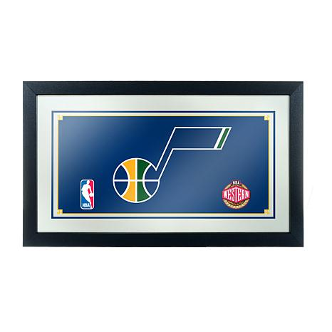 Utah Jazz NBA Framed Logo Mirror
