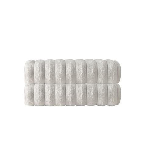 Vague 100% Turkish Micro Cotton 2-piece Bath Towel Set