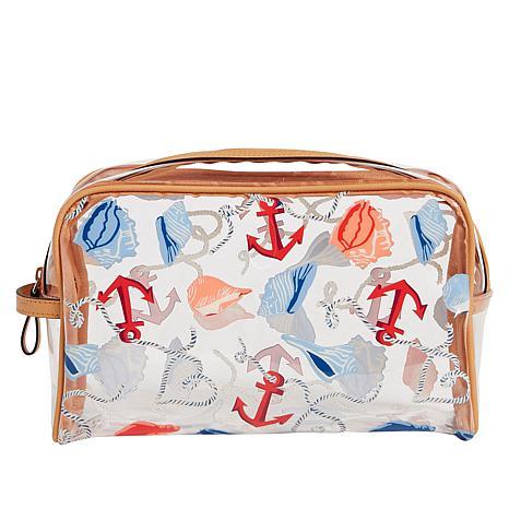 Vera Bradley Clear Beach-Design Cosmetic Bag
