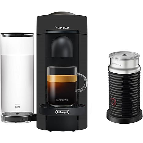 VertuoPlus Coffee   Espresso Single-Serve Machine in Black Matte an...