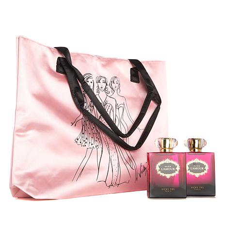 Vicky Tiel Pour L'Amour Eau de Parfum Spray Duo with Tote