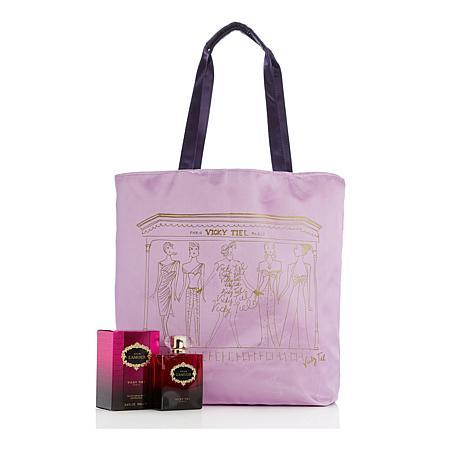 Vicky Tiel Pour L'Amour Eau de Parfum Spray with Tote - 3.4 fl oz