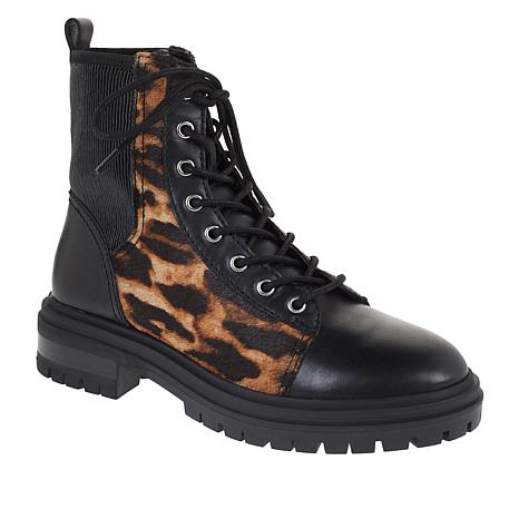 Vince Camuto Bestenda3 Leather Lace-Up Combat Boot