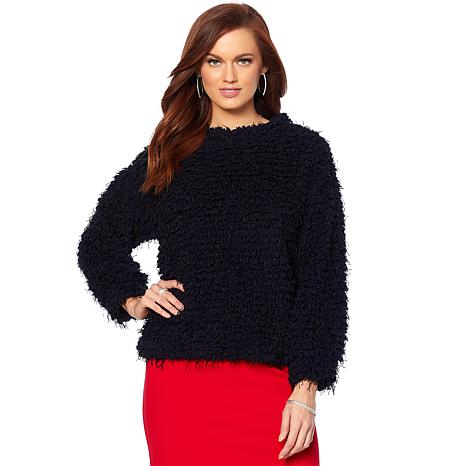 Vince Camuto Bubble Sleeve Popcorn Texture Sweater