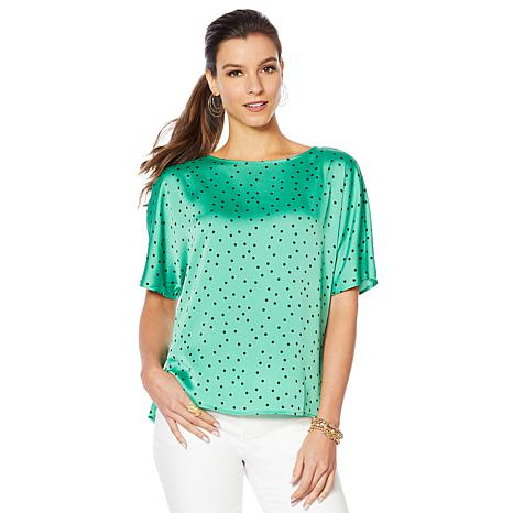 bd0542d4062 Vince Camuto Hammered Satin Pleated Back Blouse - 8898219