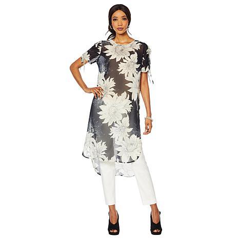 Vince Camuto Pagoda Blossom Print Tunic