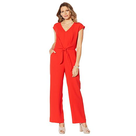 Vince Camuto Tie-Front Jumpsuit with Pockets