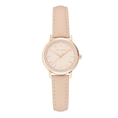 Vince Camuto Women's Rosetone Light Pink Leather Strap Watch