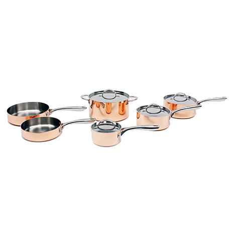 Vintage Collection 10-piece Polished Copper Cookware Set