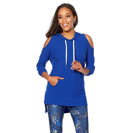 Warrior by Danica Patrick Cold-Shoulder Hoodie