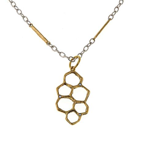 "Waxing Poetic® ""Honey Love"" Crystal Pendant with 2-Tone Chain"