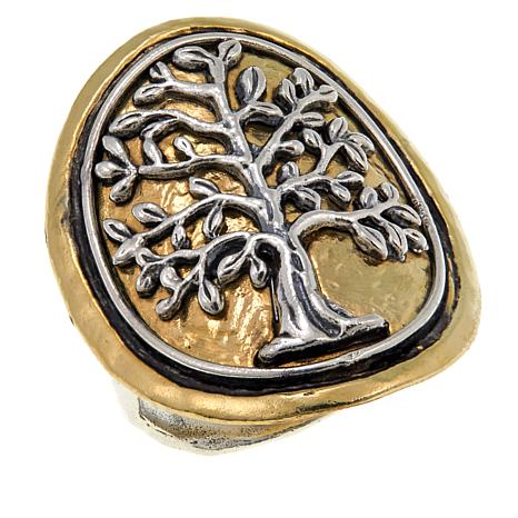 "Waxing Poetic® ""Poetree"" Tree Design 2-Tone Ring"