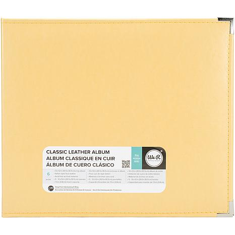 We R Classic Leather D-Ring Album 12X12 - Buttercup