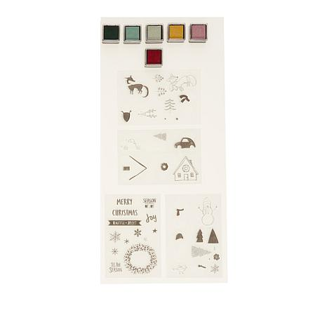 We R Memory Keepers Holiday Layering Stamps and Ink Kit
