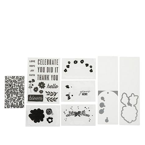 We R Memory Keepers Mini Floral Stamp and Die Bundle