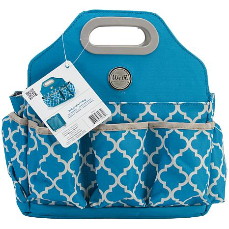 Crafter 39 s tote bag aqua 7605807 hsn for We r memory keepers craft bag