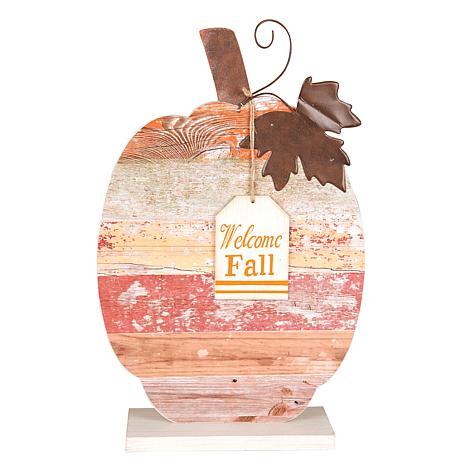 Welcome Fall Pumpkin Figure