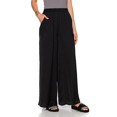 Wendy Williams Hammered Satin Wide-Leg Pant