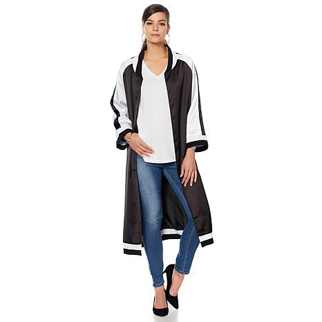 Wendy Williams Kimono-Sleeve Bomber Topper