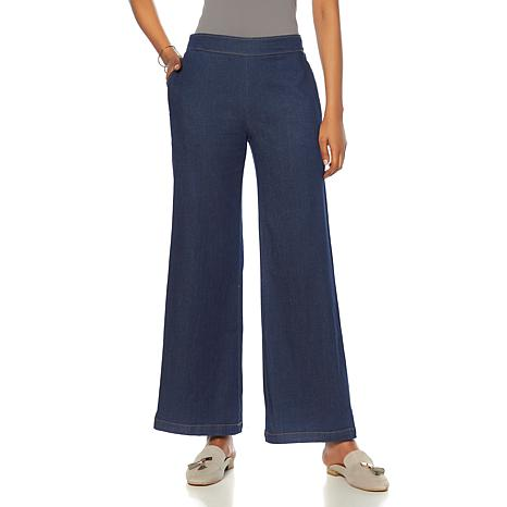 Wendy Williams Wide-Leg Pull-On Trouser