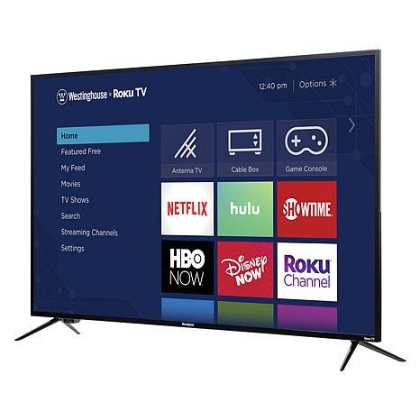 "Westinghouse 55"" 4K UHD Smart TV with Built-In Roku & 2-Year Warranty"