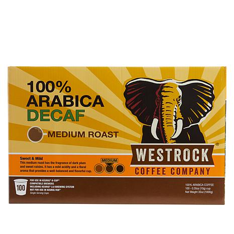 Westrock® Coffee Company Decaf 100-count Single Pods