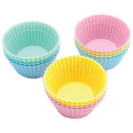 Wilton 12 Silicone Baking Cups - Pastel