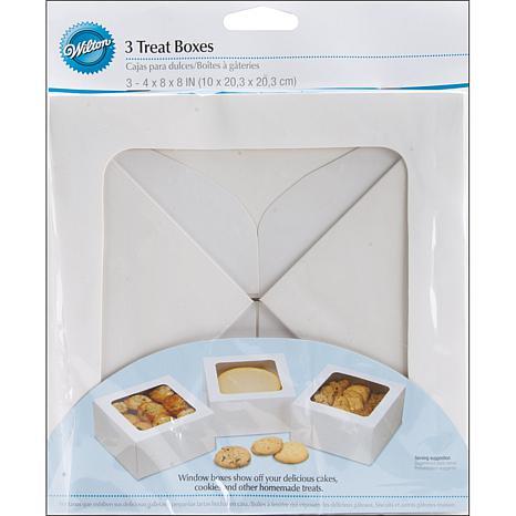 "Wilton Large Treat Box 8"" X 8"" X 4"" 3-pack - White"