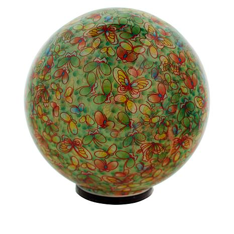 Wind and Weather LED Battery-Powered Flower Globe
