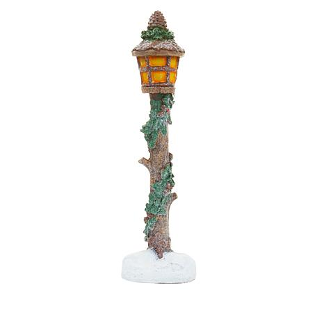 Wind & Weather Resin Lamp Post Decor Statuette with LED Light