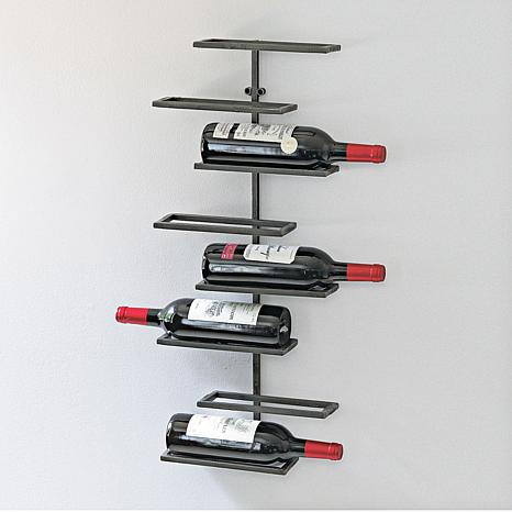 Wall wine racks Stainless Steel Hsncom Wine Enthusiast Urban 8bottle Wall Wine Rack 8279218 Hsn