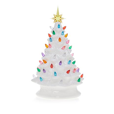 Winter Lane 14 Quot Led Lighted Ceramic Musical Christmas Tree