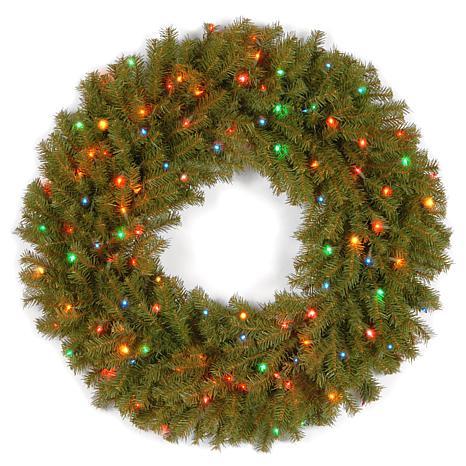 """Winter Lane 36"""" Norwood Fir Wreath w/Multicolor"""