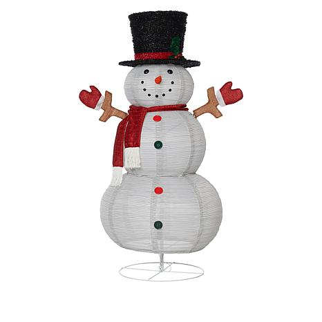 Winter Lane 4.5' Pop-Up Pre-Lit Battery-Operated Christmas Snowman