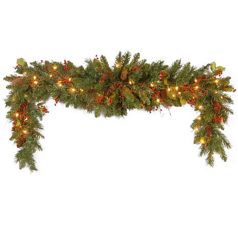 Winter Lane 6' Classical Collection Mantel Swag w/Lights