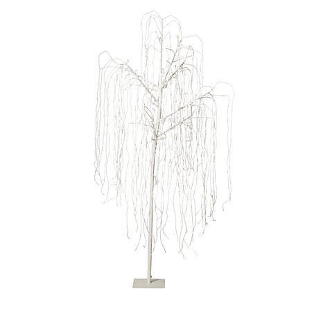 Winter Lane 8' White Willow Pre-Lit Tree
