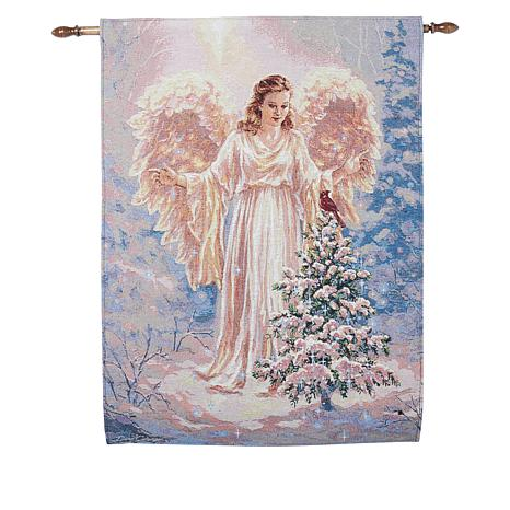 Winter Lane Angel Fiber-Optic Christmas Tapestry