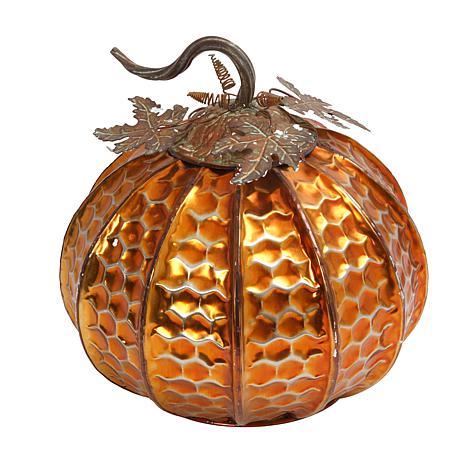 Winter Lane Tabletop Pumpkin