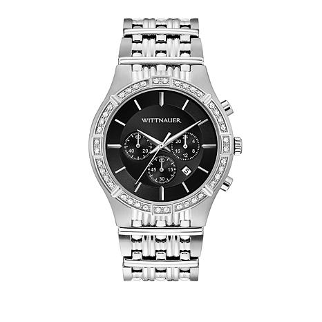 Wittnauer Men's .20ctw Diamond Silvertone Chronograph Watch