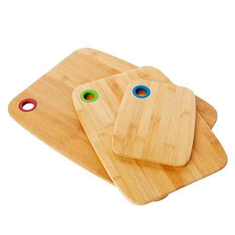 Wolfgang Puck 3-piece Bamboo Cutting Board Set
