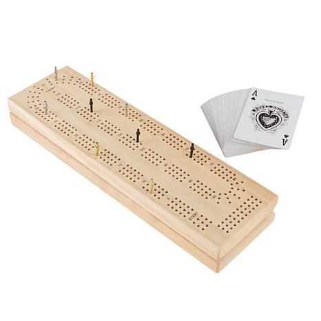 Wood Cribbage Board Game Set - Complete Set by Hey! Play!