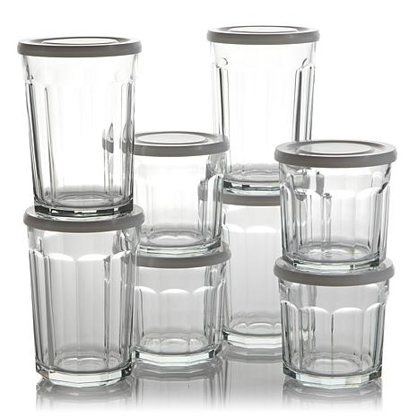 Working Glasses 8-piece Set with Lids