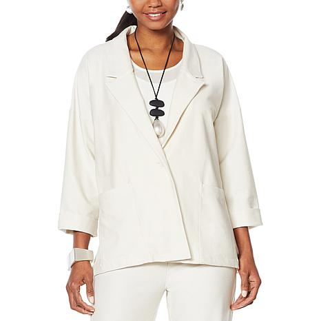 WynneLayers Oversized Button Front Blazer