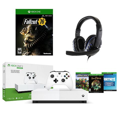 Xbox One S 1 TB Digital Edition Console with Fallout 76 Digital Cod...
