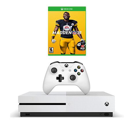 Xbox One S 1TB 4K Console with Madden NFL '19 and Accessories
