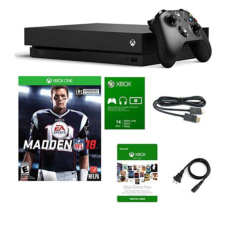 Xbox One X 1TB 4K Console with Madden NFL '18 Game & Game Pass Trials